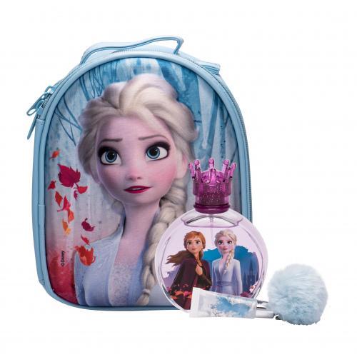 Disney Frozen II darčeková kazeta pre deti toaletná voda 100 ml + lesk na pery 6 ml + batoh Elsa
