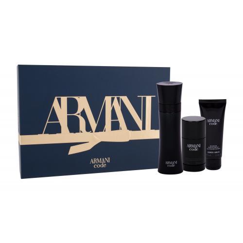 Giorgio Armani Armani Code Pour Homme darčeková kazeta pre mužov toaletná voda 125 ml + sprchovací gél 75 ml + deostick 75 ml
