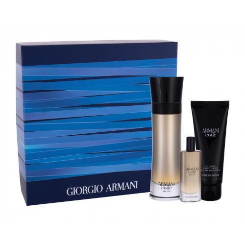 Giorgio Armani Code Absolu darčeková kazeta pre mužov parfumovaná voda 110 ml + parfumovaná voda 15 ml + sprchovací gél 75 ml