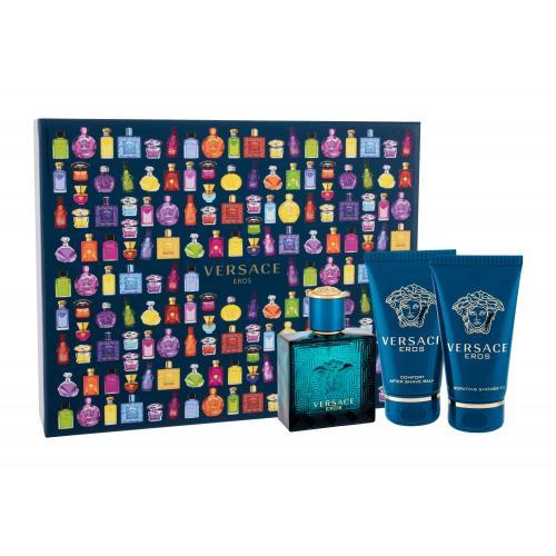 Versace Eros darčeková kazeta pre mužov toaletná voda 50ml + sprchovací gél 50 ml + balzam po holení 50 ml