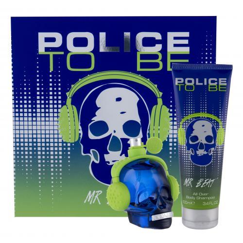 Police To Be Mr Beat darčeková kazeta pre mužov toaletná voda 75 ml + sprchovací gél 100 ml