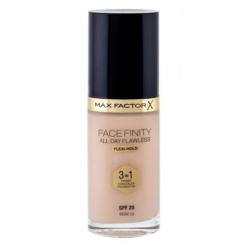 Max Factor Facefinity 3 in 1 SPF20 30 ml tekutý make-up s uv ochranou pre ženy 55 Beige