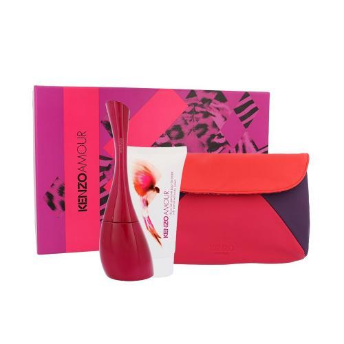 KENZO Kenzo Amour darčeková kazeta pre ženy parfumovaná voda 100 ml + telové mlieko 50 ml + kozmetická taška