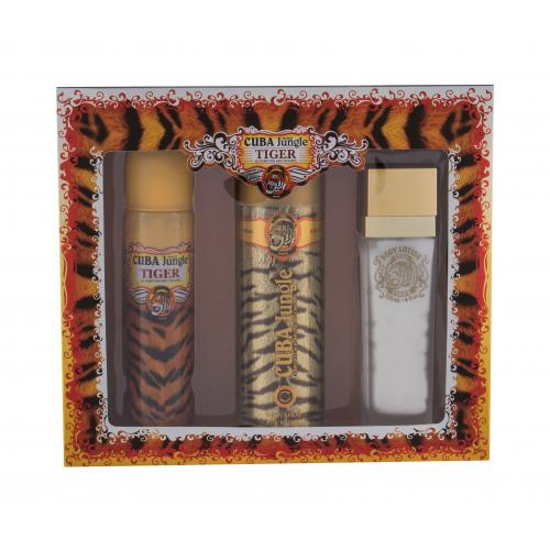 Cuba Tiger darčeková kazeta pre ženy parfumovaná voda 100 ml + dezodorant 200 ml + telové mlieko 130 ml