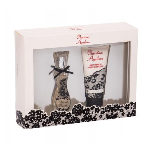 Christina Aguilera Christina Aguilera darčeková kazeta poškodená krabička pre ženy parfumovaná voda 15 ml + sprchovací gél 50 ml