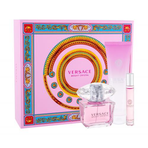 Versace Bright Crystal darčeková kazeta pre ženy toaletná voda 90 ml + telové mlieko 150 ml + toaletná voda 10 ml