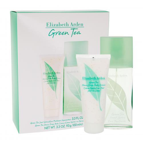 Elizabeth Arden Green Tea darčeková kazeta pre ženy parfumovaná voda 100 ml + telový krém Honey Drops 100 ml