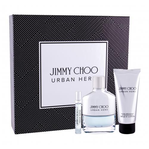 Jimmy Choo Urban Hero darčeková kazeta pre mužov parfumovaná voda 100 ml + parfumovaná voda 7,5 ml + balzam po holení 100 ml