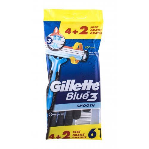 Gillette Blue3 Smooth 6 ks jednorazové holiace strojčeky pre mužov
