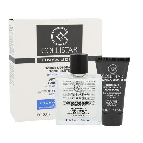 Collistar Men darčeková kazeta pre mužov voda po holení After-Shave Tonin Lotion 100ml + krém proti vráskám Anti-Wrinkle Cream 30 ml