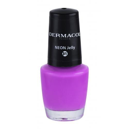 Dermacol Neon 5 ml neónový lak na nechty pre ženy 31 Neon Jelly