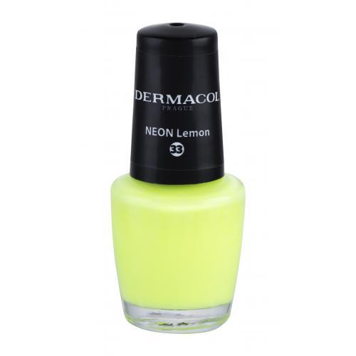 Dermacol Neon 5 ml neónový lak na nechty pre ženy 33 Neon Lemon