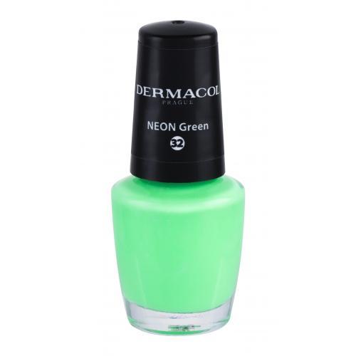 Dermacol Neon 5 ml neónový lak na nechty pre ženy 32 Neon Green
