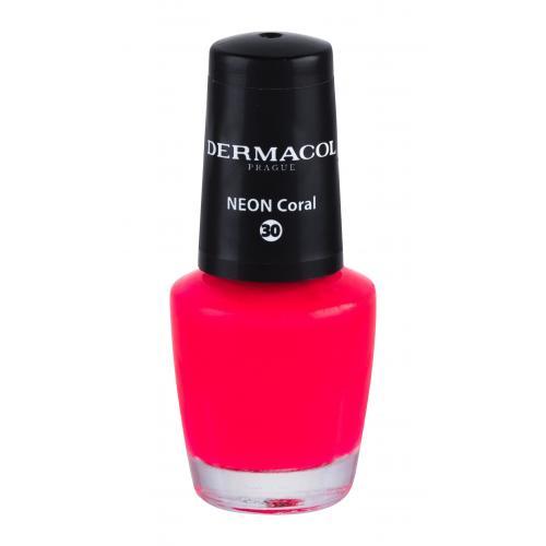 Dermacol Neon 5 ml neónový lak na nechty pre ženy 30 Neon Coral