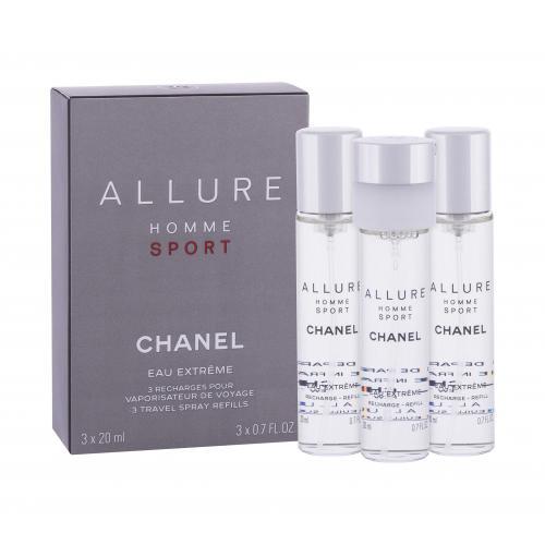 Chanel Allure Homme Sport Eau Extreme 3x20 ml toaletná voda Náplň pre mužov miniatura