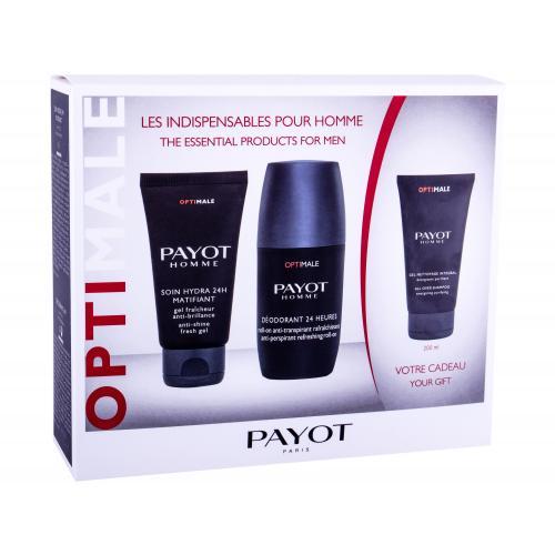 PAYOT Homme Optimale darčeková kazeta pre mužov pleťový balzam 50 ml + dezodorant 75 ml + sprchovací gél 200 ml