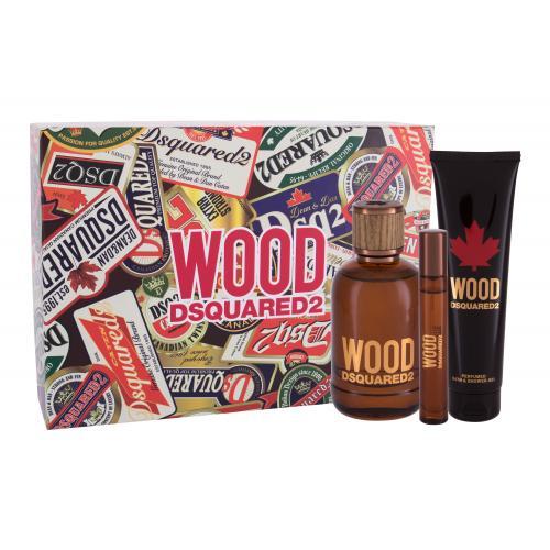 Dsquared2 Wood darčeková kazeta pre mužov Toaletná voda 100 ml + sprchovací gél 150 ml + toaletná voda 10 ml