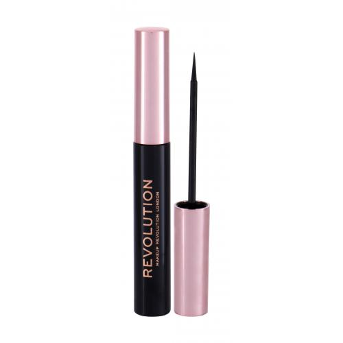 Makeup Revolution London Super Flick Eyeliner 4,5 ml tekuté očné linky pre ženy Black