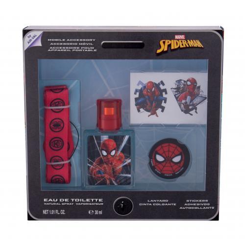 Marvel Spiderman darčeková kazeta pre deti toaletná voda 30 ml + samolepky + kľúčenka + držiak na mobil