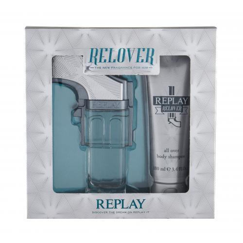 Replay Relover darčeková kazeta poškodená krabička pre mužov toaletná voda 50 ml + sprchovací gél 100 ml