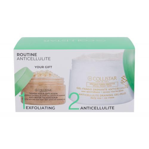 Collistar Special Perfect Body Anticellulite Draining Gel-Mud darčeková kazeta pre ženy telový gél 400 ml + telový peeling Anti-Water Talasso-Scrub 150 g