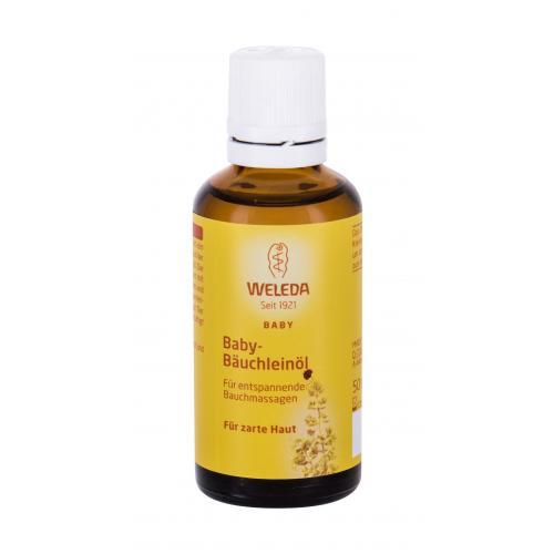Weleda Baby Tummy Oil 50 ml olej na masáž na upokojenie bruška dojčiat alebo ako pomoc pri trávení pre deti