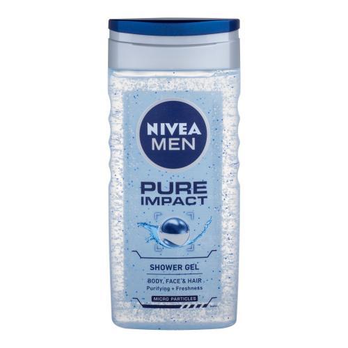 Nivea Men Pure Impact 250 ml sprchovací gél na telo a vlasy pre mužov