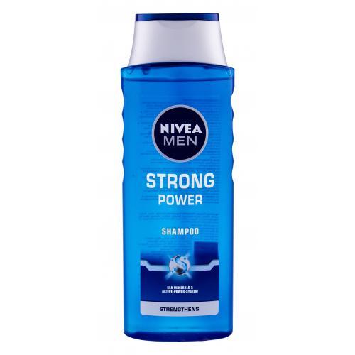 Nivea Men Strong Power 400 ml posilňujúci šampón s morskými minerálmi pre mužov