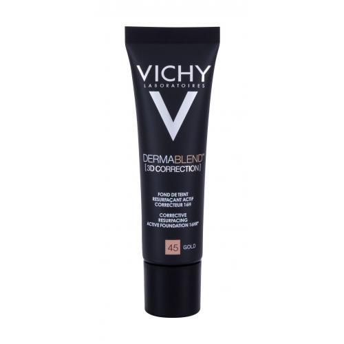 Vichy Dermablend™ 3D Correction SPF25 30 ml vyhladzujúci korekčný make-up pre ženy 45 Gold