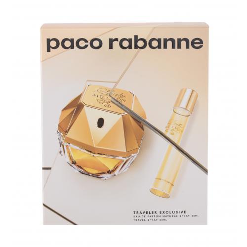 Paco Rabanne Lady Million darčeková kazeta pre ženy parfumovaná voda 80 ml + parfumovaná voda 20 ml