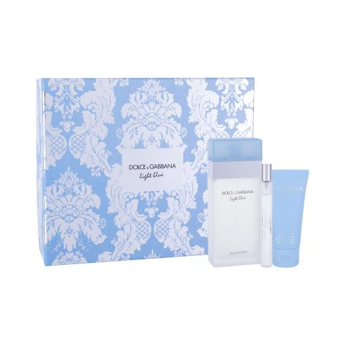 Dolce&Gabbana Light Blue darčeková kazeta pre ženy toaletná voda 100 ml + telový krém 50 ml + toaletná voda 10 ml