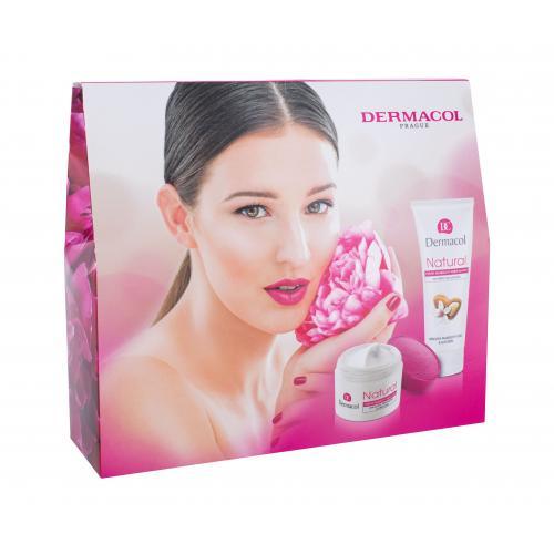 Dermacol Natural Almond darčeková kazeta proti vráskam pre ženy denná pleťová starostlivosť 50 ml + krém na ruky 100 ml