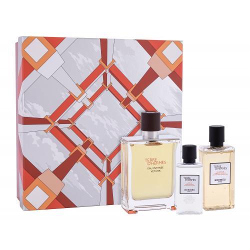 Hermes Terre d´Hermès Eau Intense Vétiver darčeková kazeta pre mužov parfumovaná voda 100 ml + sprchový gél 80 ml + voda po holení 40 ml