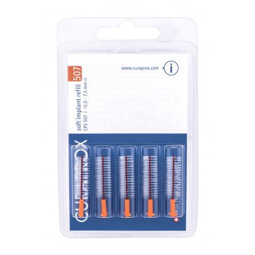 Curaprox Soft Implant Refill 2,0 - 7,5 mm 5 ks medzizubné kefky na čistenie implantátov. unisex