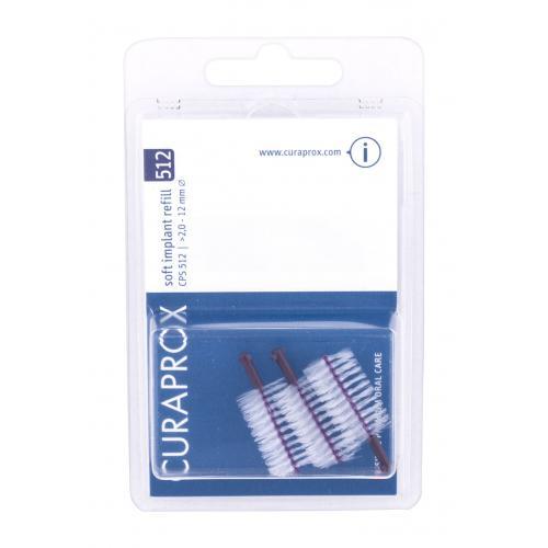 Curaprox Soft Implant Refill 2,0 - 12 mm 3 ks medzizubné kefky na čistenie implantátov. unisex