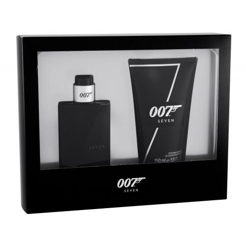 James Bond 007 Seven darčeková kazeta poškodená krabička pre mužov toaletná voda 50 ml + sprchový gél 150 ml