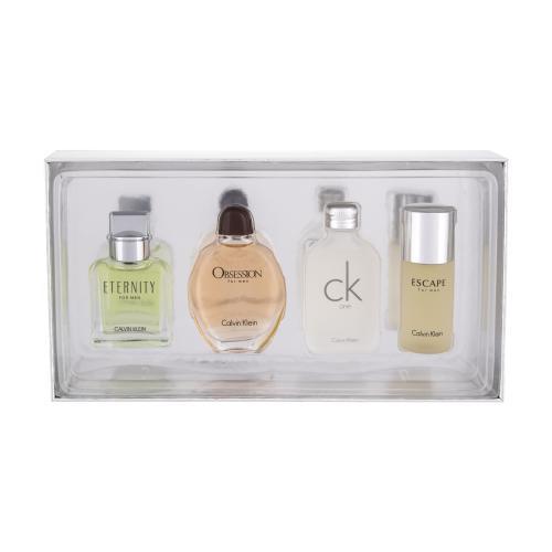 Calvin Klein Mix Giftset darčeková kazeta pre mužov toaletná voda Eternity 15 ml + toaletná voda Obsession 15 ml + toaletná voda CK One 15 ml + toaletná voda Excape 15 ml
