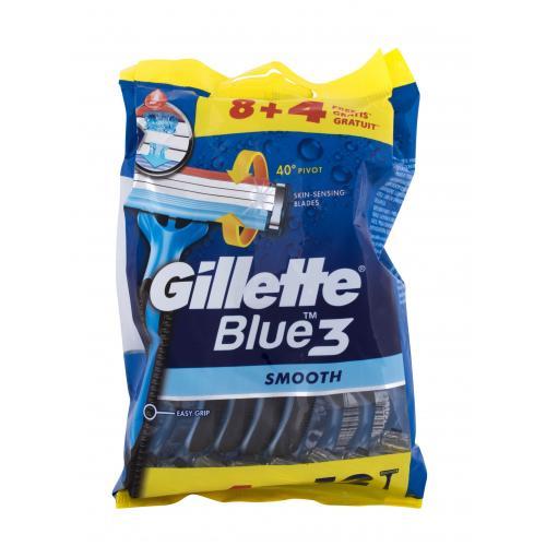 Gillette Blue3 Smooth 12 ks jednorazové holiace strojčeky pre mužov