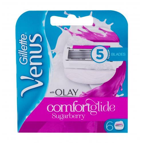 Gillette Venus & Olay Sugarberry Comfortglide 6 ks náhradné ostrie pre ženy