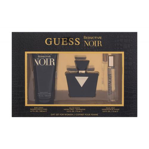 GUESS Seductive Noir darčeková kazeta poškodená krabička pre ženy toaletná voda 75 ml + telové mlieko 200 ml + toaletná voda 15 ml