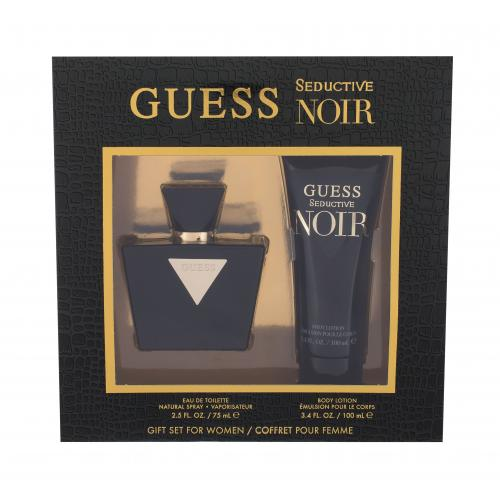 GUESS Seductive Noir darčeková kazeta pre ženy toaletná voda 75 ml + telové mlieko 100 ml