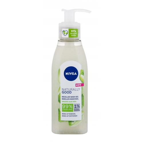 Nivea Naturally Good Micellar Wash Organic Aloe Vera 140 ml micelárny čistiaci gél. pre ženy