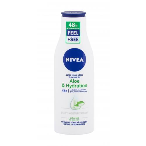 Nivea Aloe & Hydration 48h 250 ml hydratačné telové mlieko s aloe vera. pre ženy