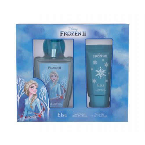Disney Frozen II Elsa darčeková kazeta pre deti toaletná voda 100 ml + sprchovací gél 75 ml