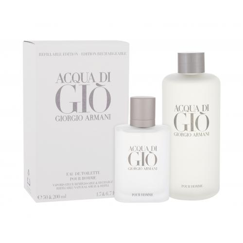Giorgio Armani Acqua di Giò Pour Homme darčeková kazeta pre mužov toaletná voda 50 ml + toaletná voda náplň 200 ml