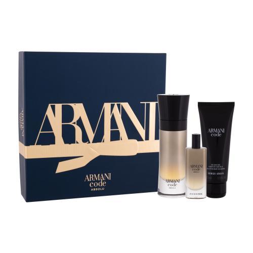 Giorgio Armani Code Absolu darčeková kazeta pre mužov parfumovaná voda 60 ml + sprchovací gél 75 ml + parfumovaná voda 15 ml