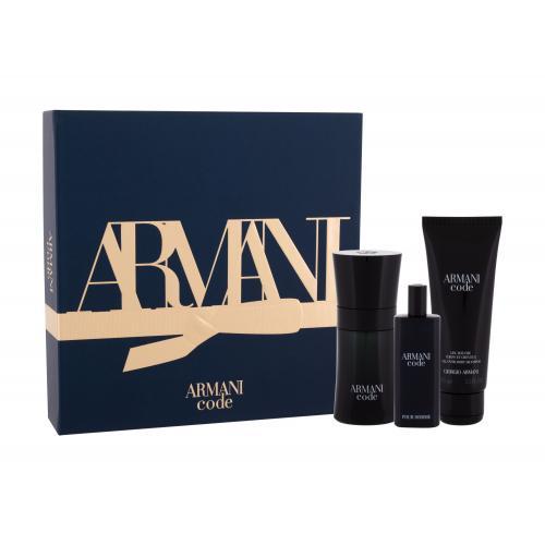 Giorgio Armani Armani Code Pour Homme darčeková kazeta pre mužov toaletná voda 50 ml + sprchovací gél 75 ml + toaletná voda 15 ml