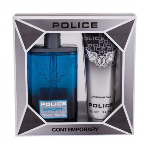 Police Sport darčeková kazeta pre mužov toaletná voda 100 ml + balzam po holení 100 ml