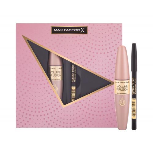 Max Factor Volume Infusion darčeková kazeta pre ženy riasenka Volume Infusion Mascara 13,1 ml + ceruzka na oči Kohl Pencil 3,5 g 020 Black Black