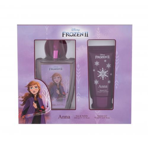 Disney Frozen II Anna darčeková kazeta poškodená krabička pre deti toaletná voda 100 ml + sprchovací gél 75 ml